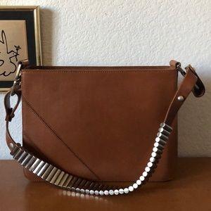 Armani Exchange Brown Structured Medium Bag